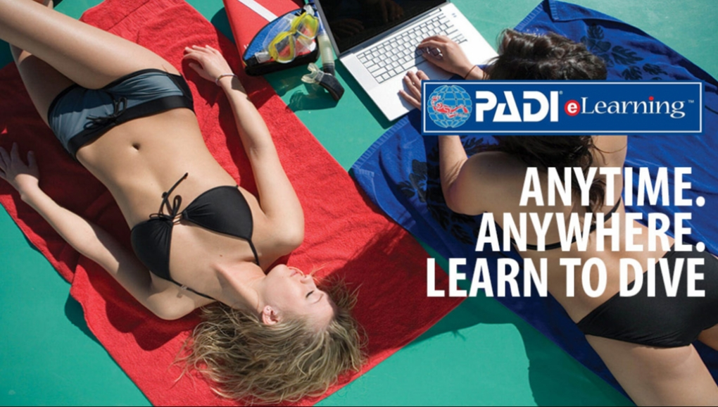 """PADI COURSES <br>ONLINE<br><b style=""""color: #b8e600"""">BOOK NOW!</b>"""